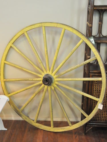 Wagon Wheel | Period: Edwardian c1900 | Material: Timber with iron rim.