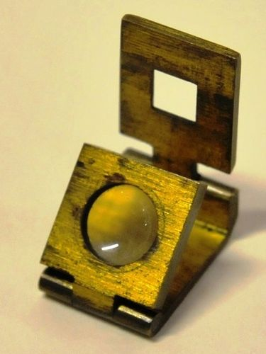 Fabric Thread Count Magnifier   Period: Victorian c1890   Material: Bronze