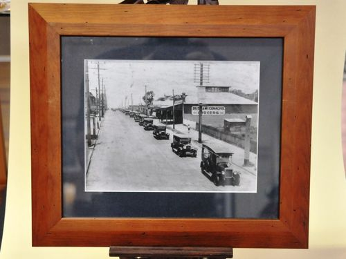 Framed Motorcade Photograph | Period: c1929 | Material: Paper