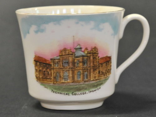 Ipswich Technical College Cup | Period: 1910 | Make: Hewitt & Leadbeater Willow Pottery | Material: Porcelain