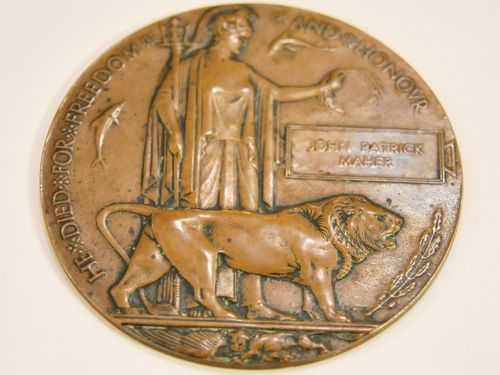 Gallipoli Death Plaque | Period: WW1 1914-18 | Material: Bronze