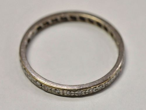 Planinum & Diamond Hoop Band | Period: c1920s | Make: Hardy Bros. Handmade | Material: Platinum & Diamond
