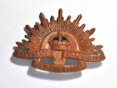 Australian Cap Badge | Make: Australian Military Forces | Material: Copper