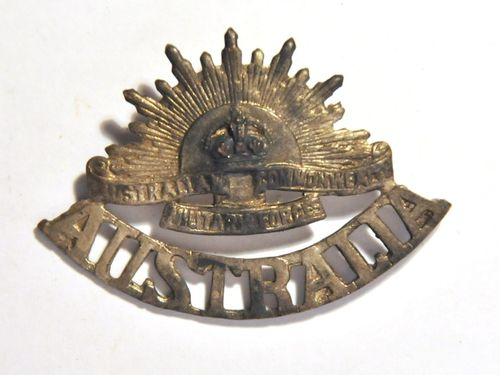 Australian Cap Badge | Material: Brass