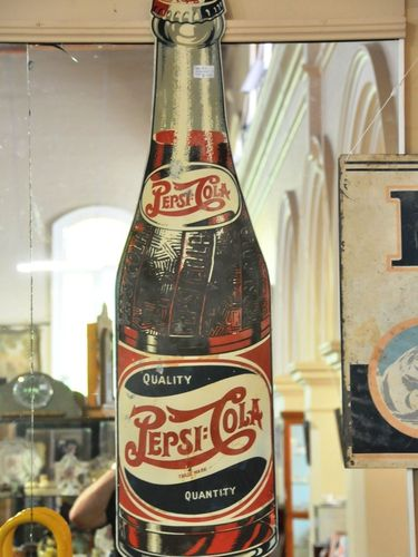Pepsi Cola Sign | Period: c1950s | Make: Pepsi Cola | Material: Tin