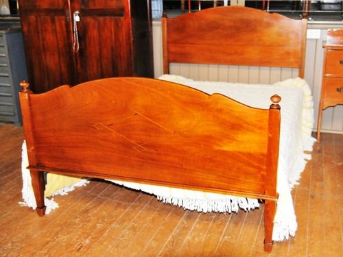 Deco Double Bed | Period: c1930 | Material: Silky Oak