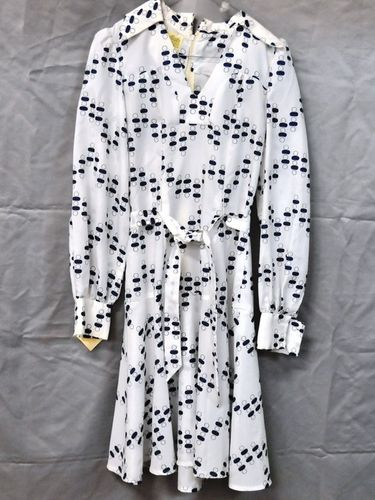 Dotty Dress | Period: c1970s | Make: Dressmaster | Material: Polyester