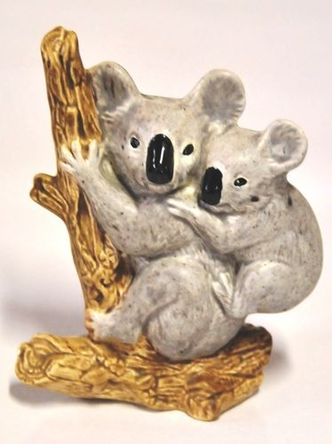 Koalas Figure | Period: c1950s | Make: Unmarked | Material: Pottery