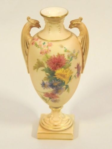 Royal Worcester 2 Handled Vase | Period: c1900 | Make: Royal Worcester | Material: Porcelain