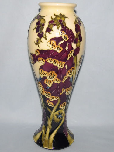 Moorcroft Fairies Foxglove vase | Period: Contemporary | Make: Moorcroft | Material: Pottery | Moorcroft Ltd Ed Fairies Foxglove 75/10