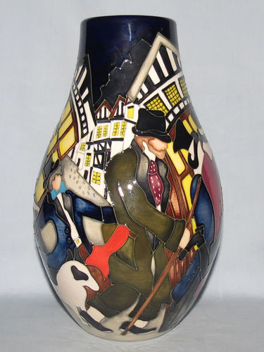 Moorcroft The Pickpockets vase | Period: Contemporary | Make: Moorcroft | Material: Pottery | Moorcroft The Pickpockets 117/9