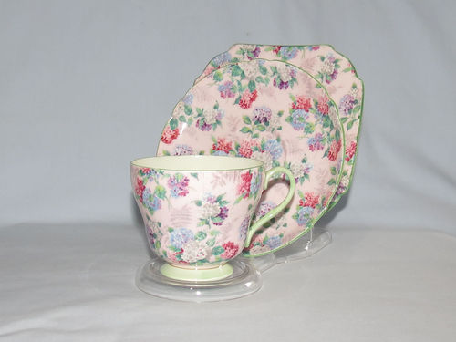 Shelley Summer Glory trio | Period: 1950's | Make: Shelley | Material: Porcelain | Shelley Summer Glory trio