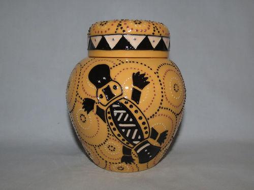 Moorcroft Papunya Platypus jar | Period: Contemporary | Make: Moorcroft | Material: Pottery | Moorcroft Australian Exclusive Papunya Platypus