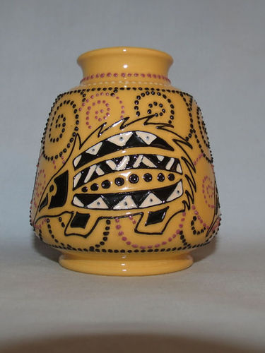 Moorcroft Papunya Echidna vase | Period: Contemporary | Make: Moorcroft | Material: Pottery | Moorcroft Papunya Echidna vase