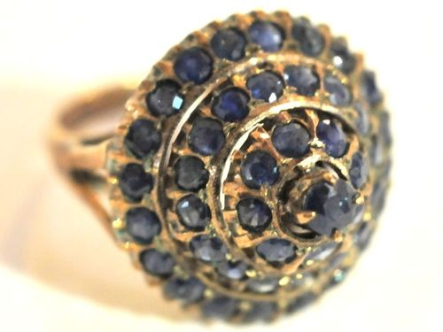 Sapphire Cocktail Ring | Period: 1965 | Make: Handmade | Material: 14ct gold & Australian sapphires
