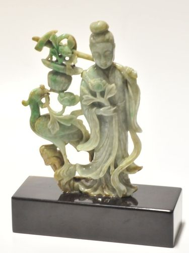 Carved Jadeite Figure | Period: 19th Century | Material: Jadeite