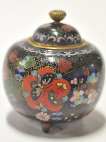 Cloisonne Covered Jar | Period: Meiji Period | Material: Cloisonne