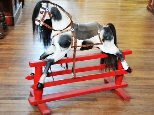 Platform Rocking Horse | Period: c1930s | Make: Handmade | Material: Timber