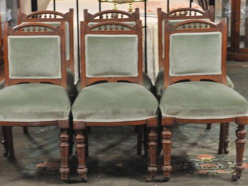 Set 6 Oak Chairs   Period: Victorian c1890   Material: English Oak