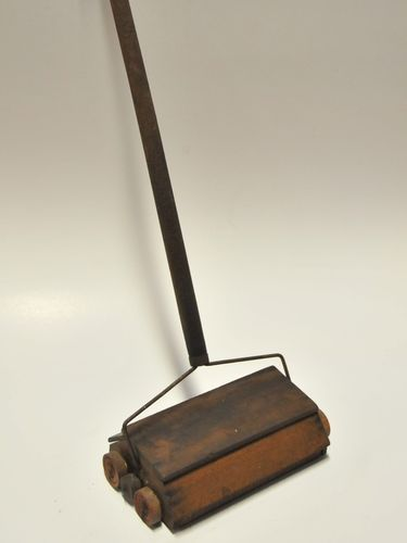 Child's Carpet Sweeper | Period: Depression Era c1930s | Material: Various incl. timber, pipe cleaner, dominoes and wire