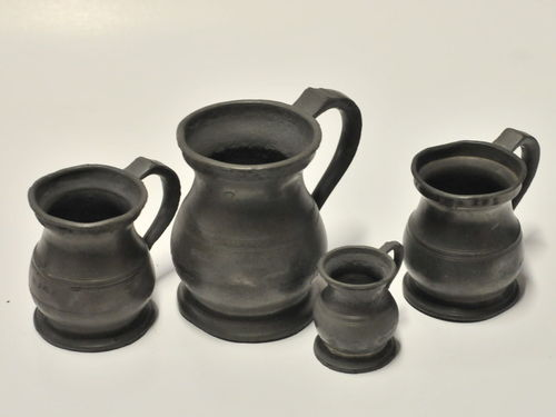Set 4 Gill Measures | Period: William IV c1830 | Make: Gaskell & Chambers | Material: Pewter