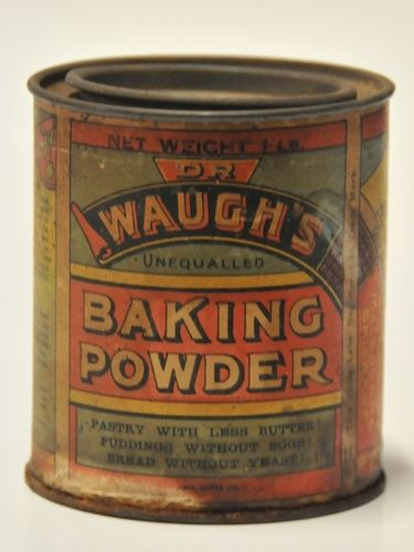 Dr Waugh's Baking Powder Tin | Period: 1920s | Make: James Chamow | Material: Tin-paper label