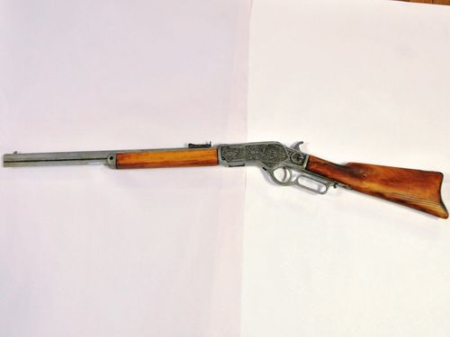 Replica Wincherster Rifle | Period: c1970s | Make: Winchester | Material: Gunmetal