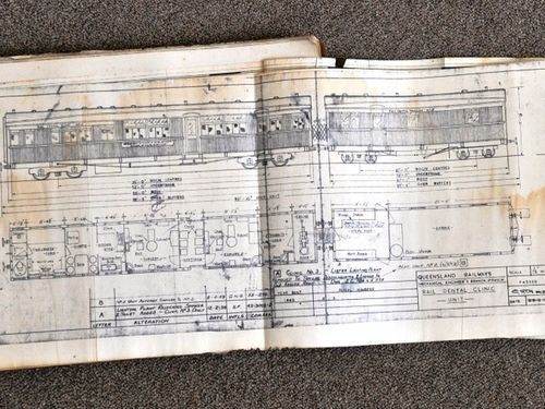 Railway Carriage Blueprints | Period: c1960 | Make: Queensland Railways | Material: Paper