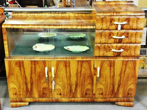 Art Deco Sideboard | Period: Art Deco c1940s | Material: Various timbers and veneers