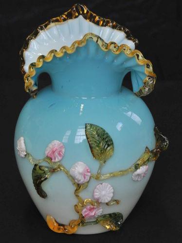 Victorian Artglass Vase | Period: c1880 | Material: Glass