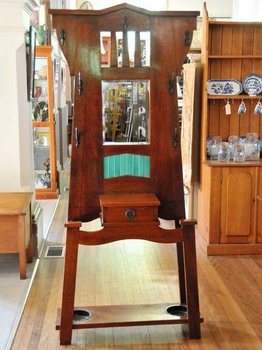 Silky Oak Hallstand | Period: c1915 | Make: Arts & Craft Style | Material: Silky Oak
