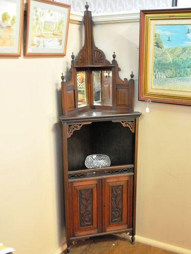 Corner Cabinet   Period: Edwardian c1905   Material: Walnut