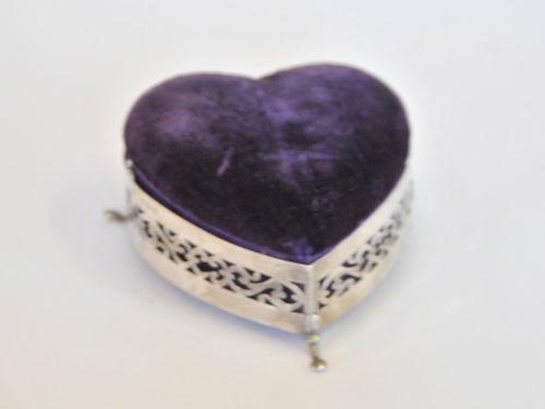 HMSS Silver Jewellery Box | Period: 1903 | Make: Silversmith William E. Turner | Material: Sterling Silver - Velvet Top