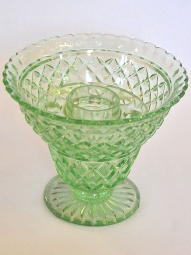 Depression Glass Vase | Period: c1930s | Material: Glass