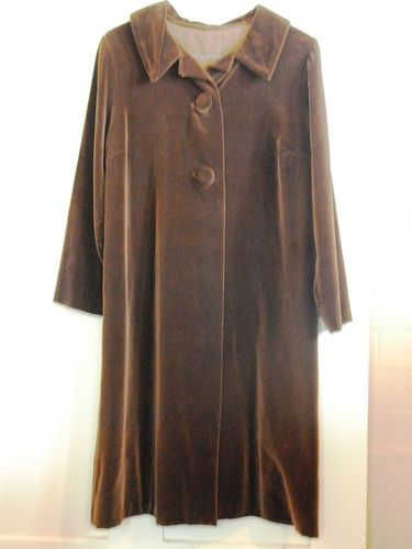 Opera Coat | Period: c1960s | Material: Brown velvet