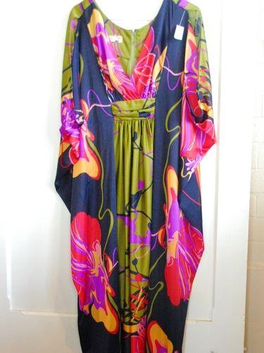 Ladies Kaftan Gown | Period: 1970s | Make: Ralston | Material: Nylon