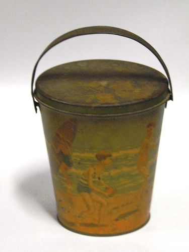 Arnott Sand Bucket | Period: c1930 | Make: William Arnott Ltd Biscuit Manufacturers | Material: Tinplate
