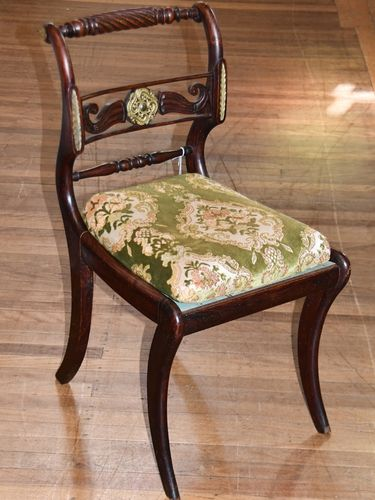 Side Chair   Period: Regency c1830   Material: Mahogany