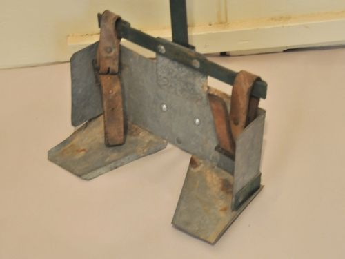 Linesman's Tool Carrier | Period: c1935 | Material: Iron and Tin | Front side