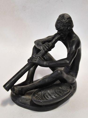 Takacs Aboriginal Figure | Period: 1950s | Make: Takacs, Australia | Material: Pottery