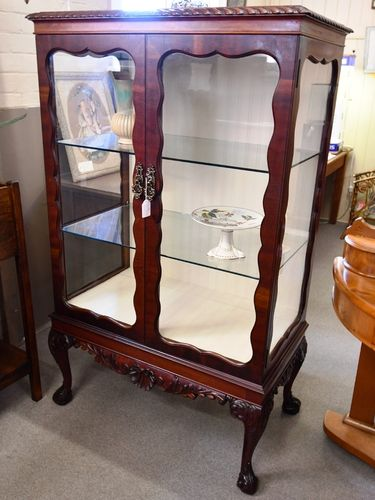 China Cabinet/ Display Case | Period: c1980s | Material: Various timbers and veneers