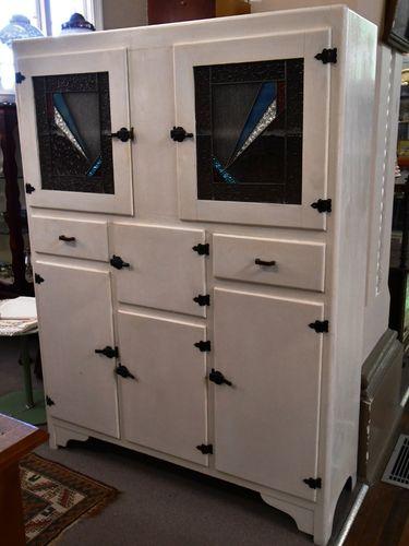 Leadlight Kitchen Dresser   Period: c1940s   Material: Timber & Leadlight