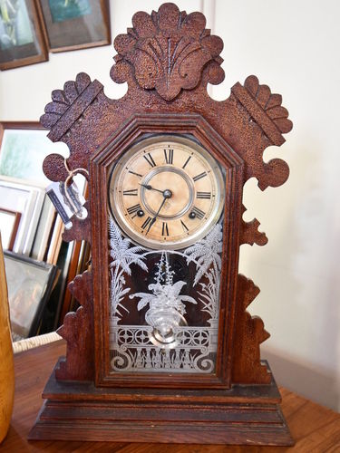 Mantle Clock | Period: c1890s | Make: Ansonia | Material: Timber