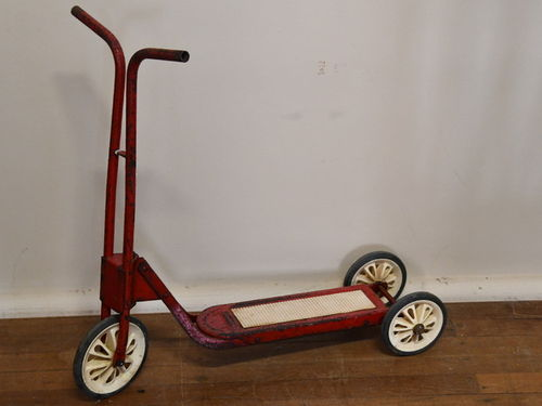 Childs Scooter | Period: c1980s | Material: Metal and plastic