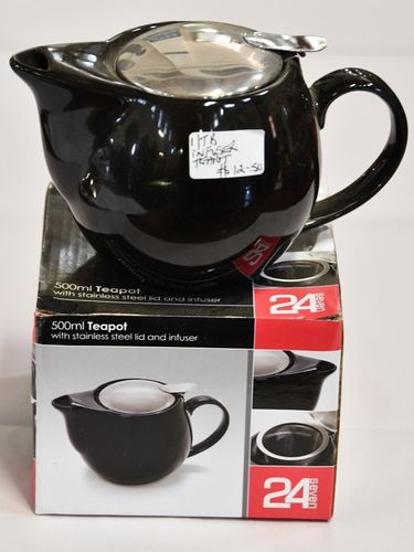 Infuser Teapot | Period: New | Material: Porcelain