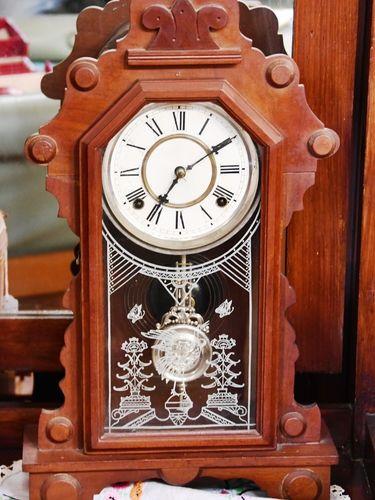 Mantle Clock | Period: c1910 | Material: Timber
