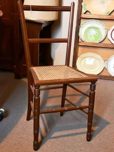 Inlaid Side Chair | Period: Victorian 1890s | Material: Walnut