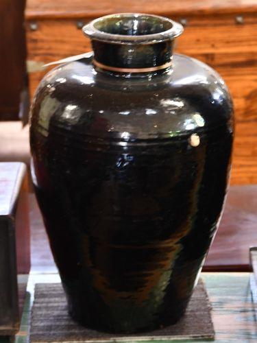 Black Glaze Pot | Period: Qing c1900 | Material: Pottery