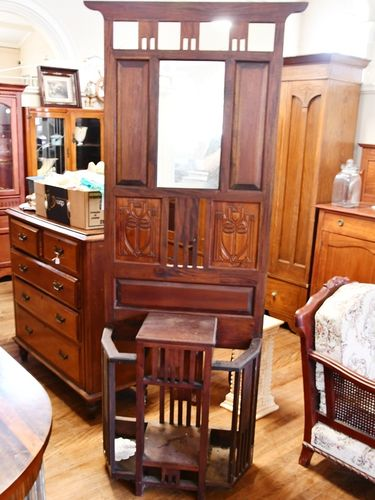 Hall Stand   Period: c1980s   Material: Mahogany