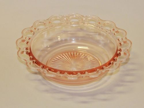 Depression Glass Bowl | Period: 1920s | Material: Pink glass